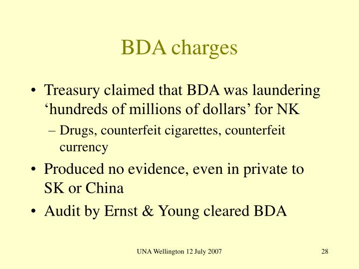 BDA charges