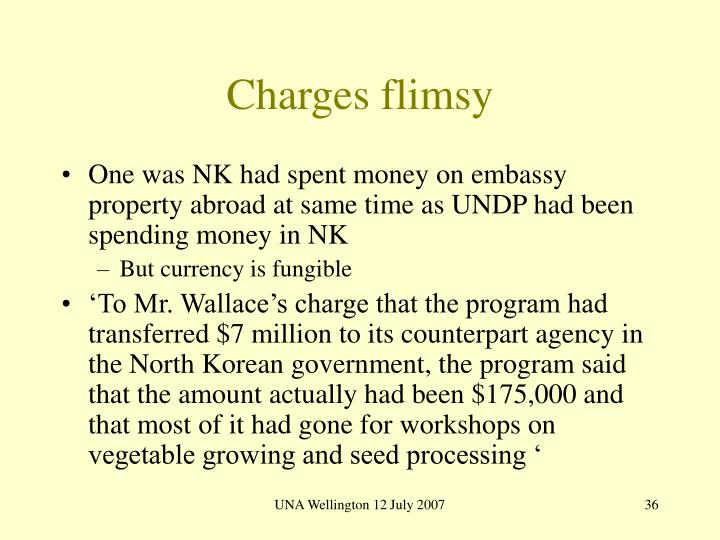 Charges flimsy