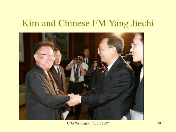 Kim and Chinese FM Yang Jiechi