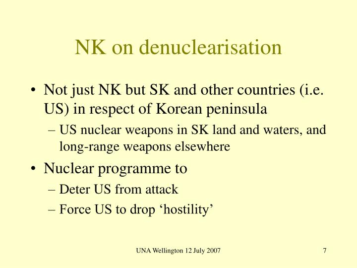 NK on denuclearisation