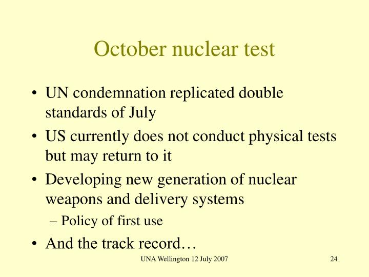 October nuclear test