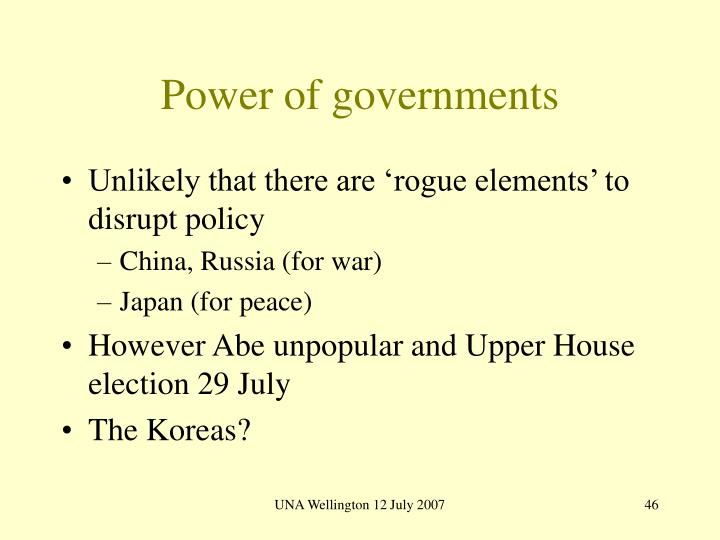 Power of governments