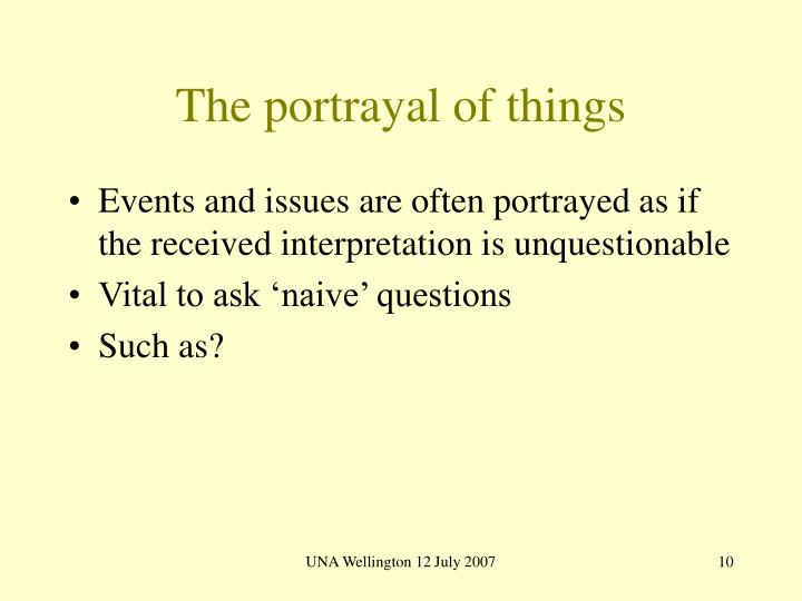 The portrayal of things