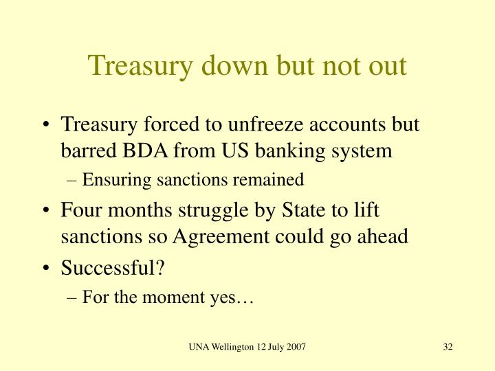 Treasury down but not out