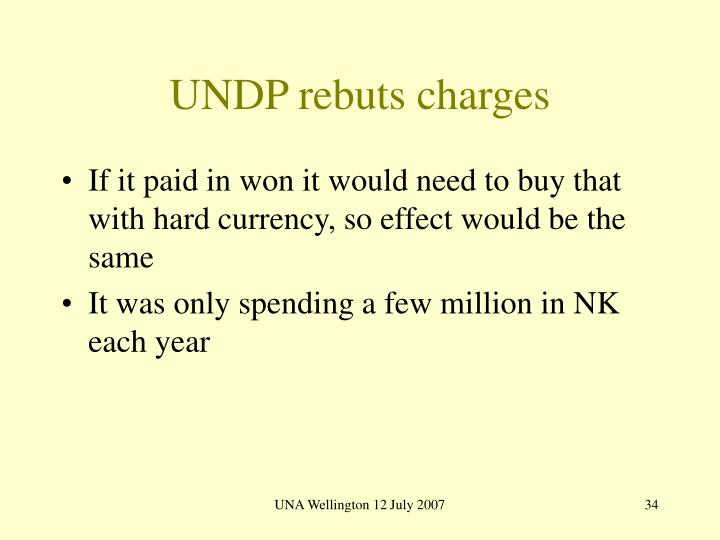 UNDP rebuts charges