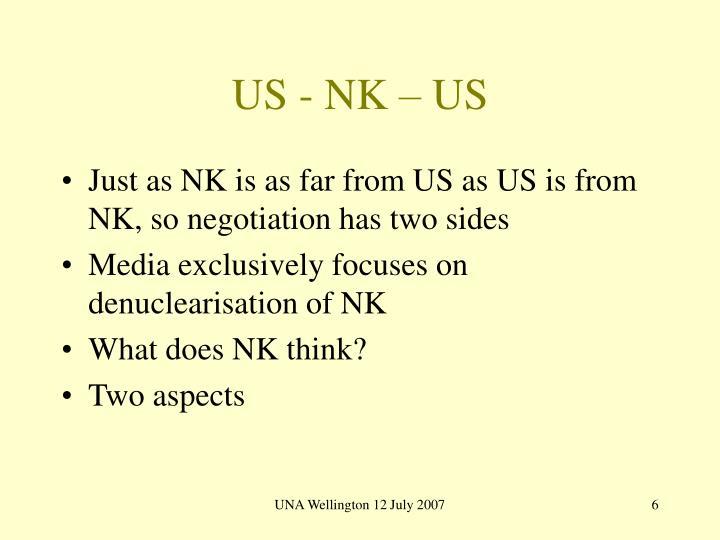 US - NK – US