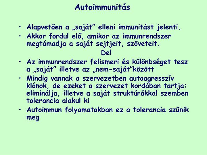 Autoimmunit