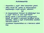autoimmunit s