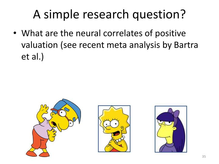 A simple research question?