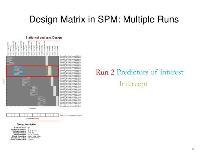 Design Matrix in SPM: Multiple Runs