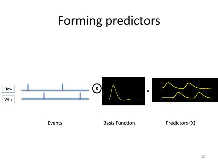 Forming predictors