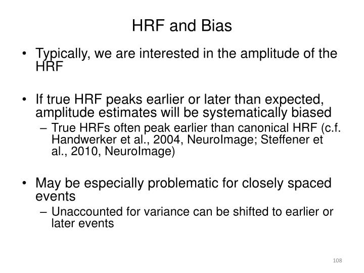 HRF and Bias