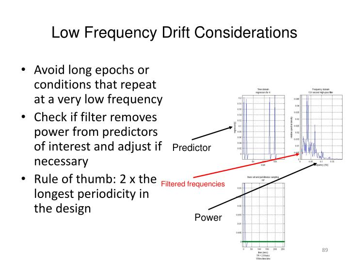 Low Frequency Drift Considerations