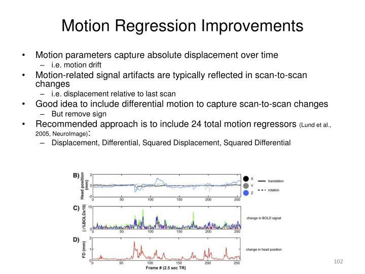 Motion Regression Improvements