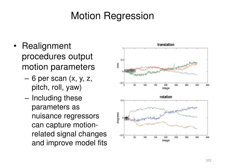 Motion Regression