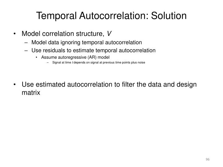 Temporal Autocorrelation: Solution