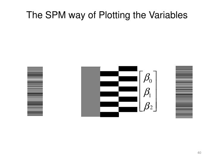 The SPM way of Plotting the Variables
