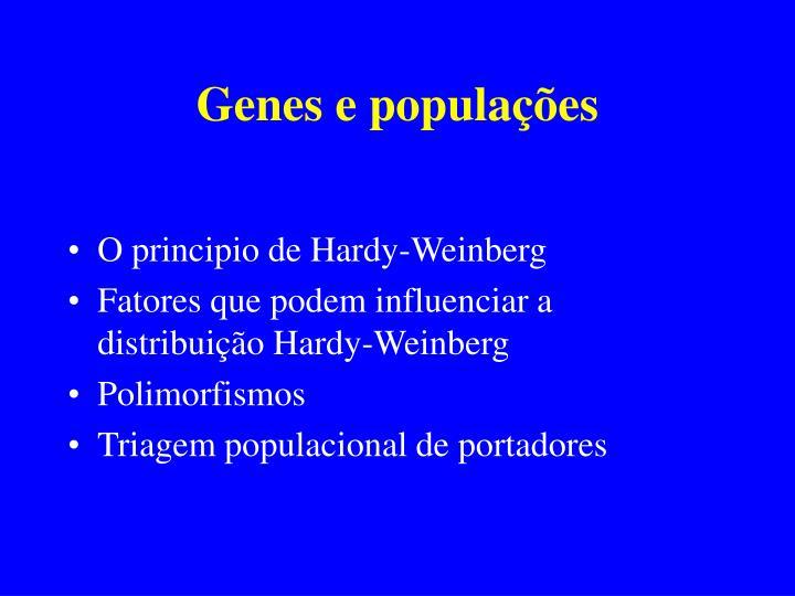 Genes e populações