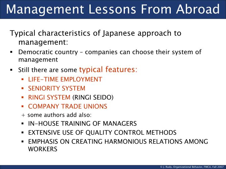 Management Lessons From Abroad