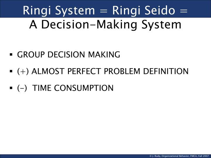 Ringi System = Ringi Seido =