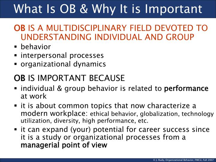 What is ob why it is important