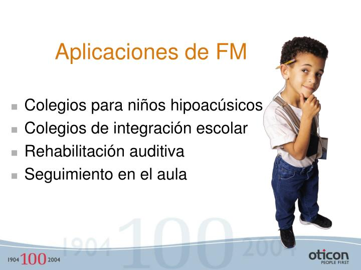 Aplicaciones de FM