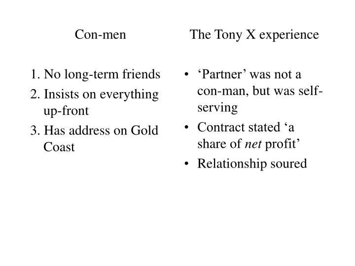 Con-men