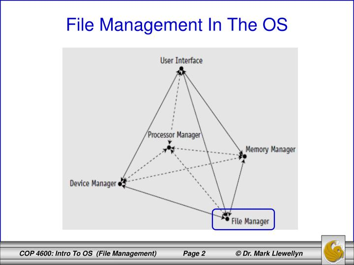 File management in the os