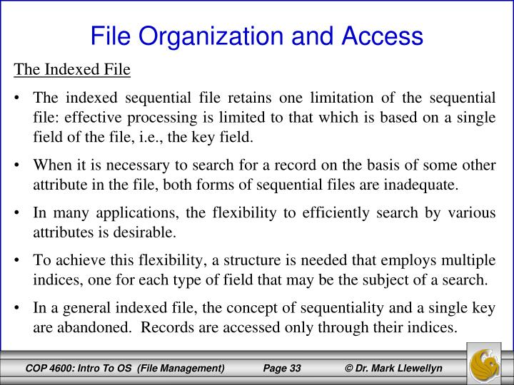 The Indexed File
