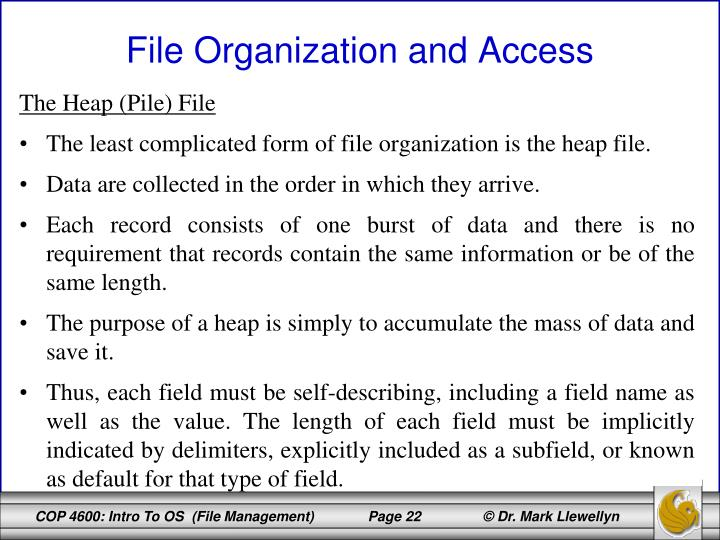 The Heap (Pile) File