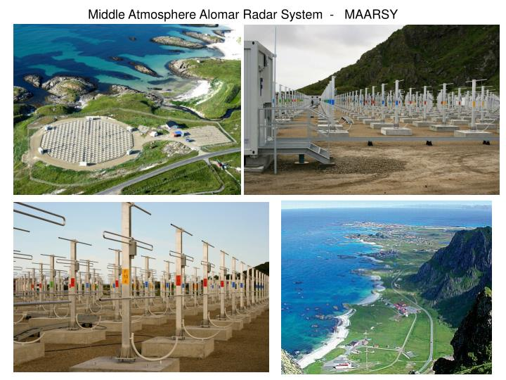 Middle Atmosphere Alomar Radar System  -   MAARSY