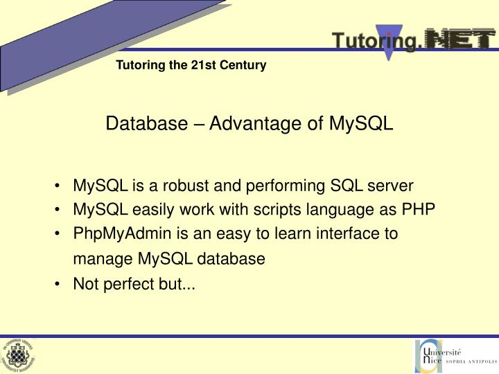 Database – Advantage of MySQL