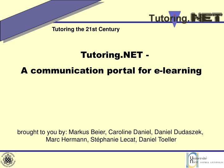 Tutoring.NET -