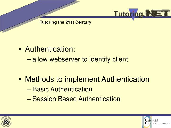 Authentication: