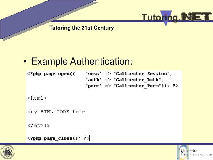 Example Authentication: