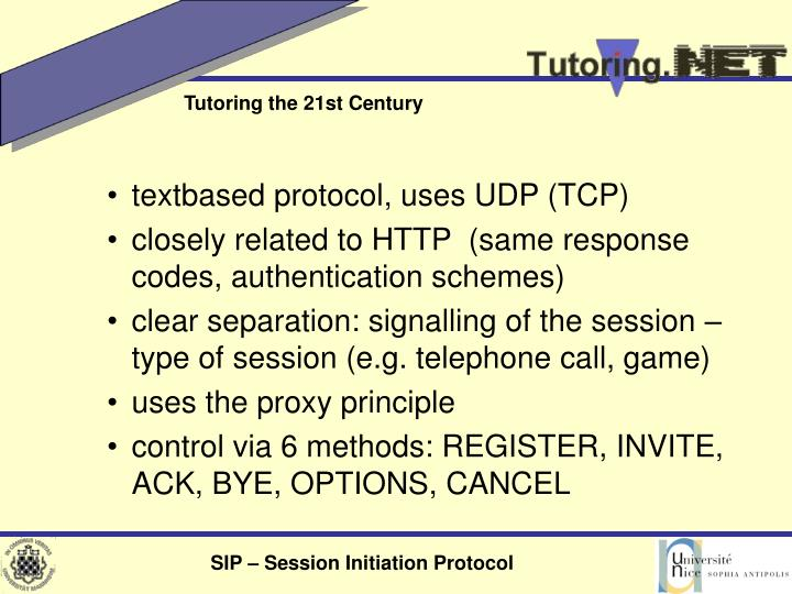 textbased protocol, uses UDP (TCP)