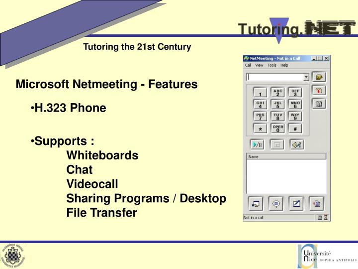 Microsoft Netmeeting - Features