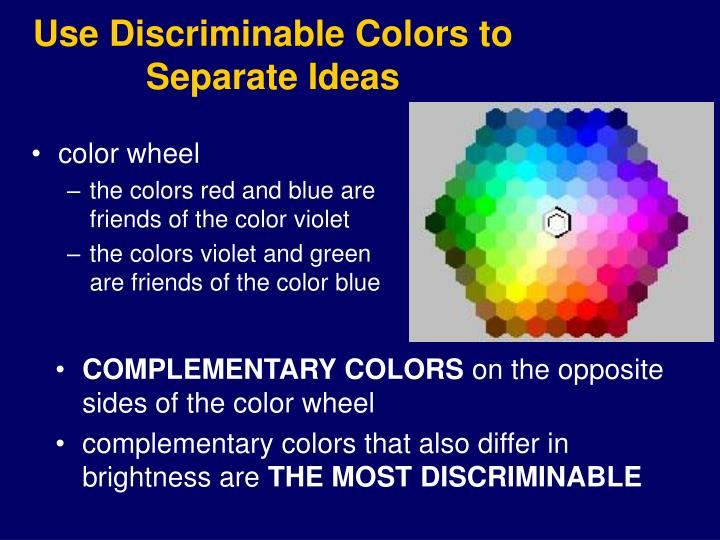 Use Discriminable Colors to