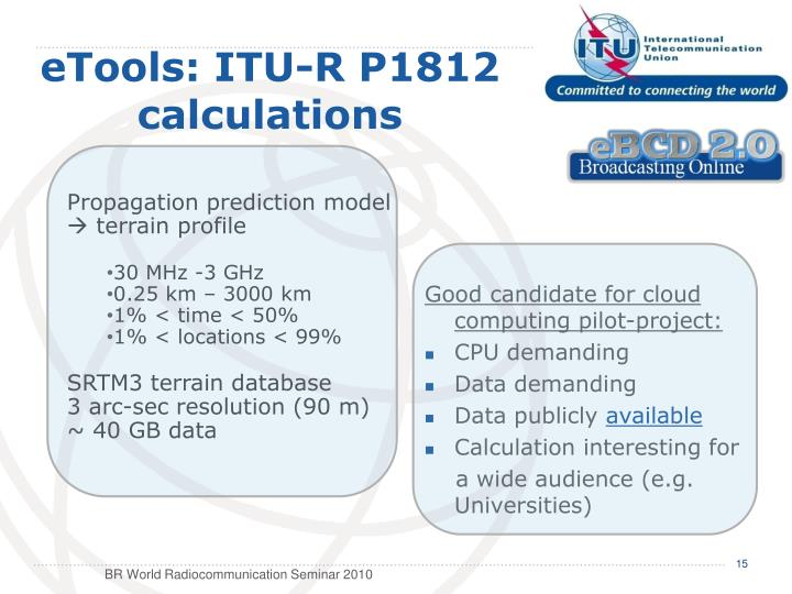 eTools: ITU-R P1812 calculations