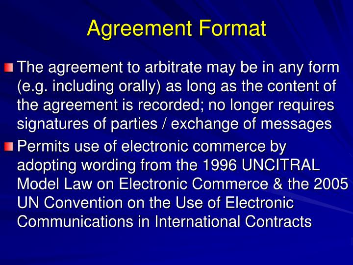 Agreement Format