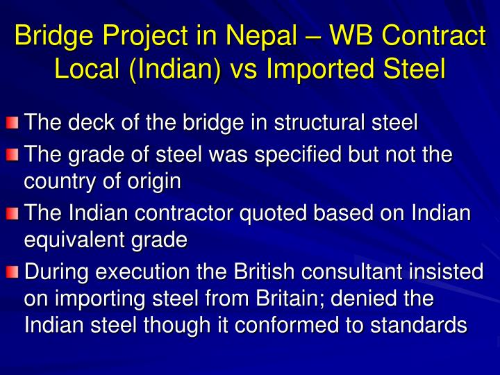 Bridge Project in Nepal – WB Contract
