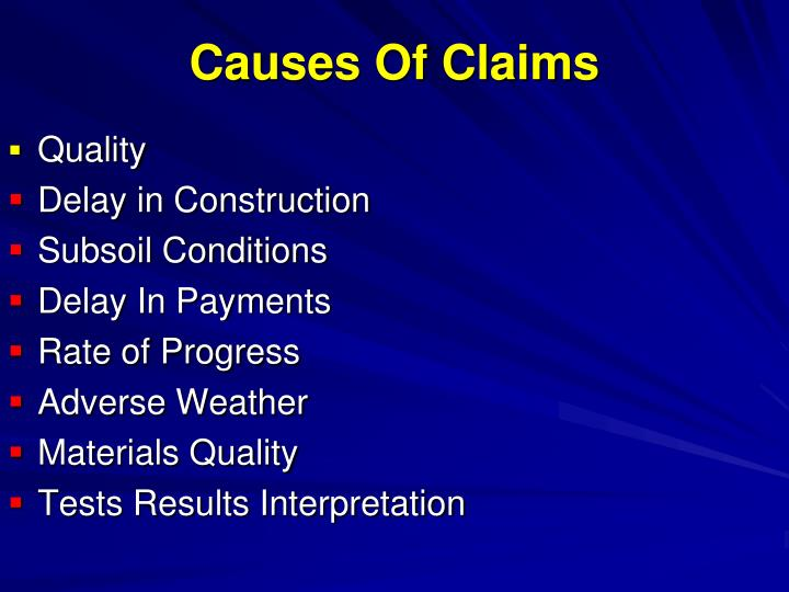 Causes Of Claims