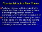 counterclaims and new claims