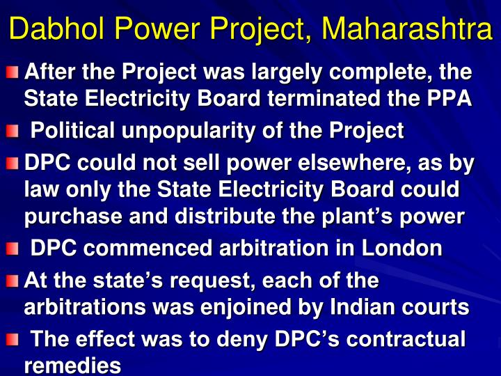 Dabhol Power Project, Maharashtra