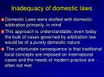 inadequacy of domestic laws