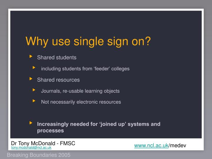 Why use single sign on?