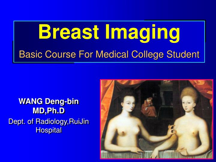 Breast imaging basic course for medical college student