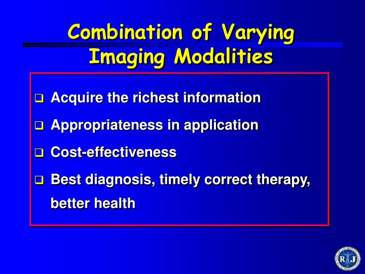 Combination of Varying Imaging Modalities
