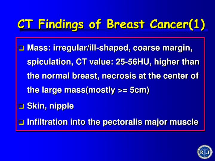 CT Findings of Breast Cancer(1)