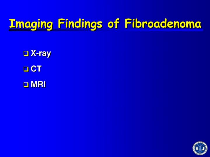 Imaging Findings of Fibroadenoma